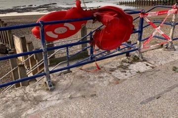 Lifebuoys along Eastbourne seafront vandalised on Eastbourne Bournefree website
