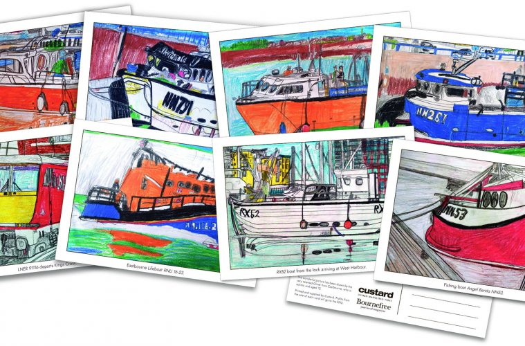 Buy Oliver's amazing postcards today and every penny goes to the RNLI on Eastbourne Bournefree website