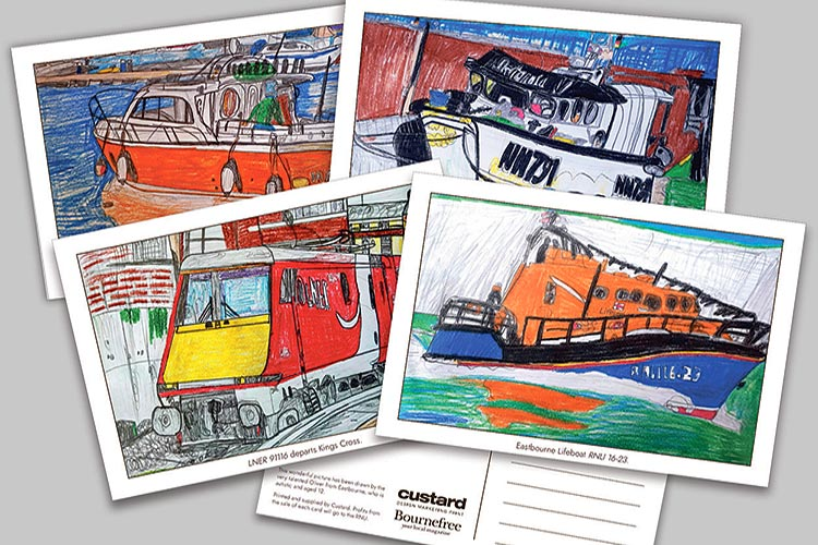 Your chance to buy Oliver's amazing drawings - with every penny going to Eastbourne RNLI on Eastbourne Bournefree website