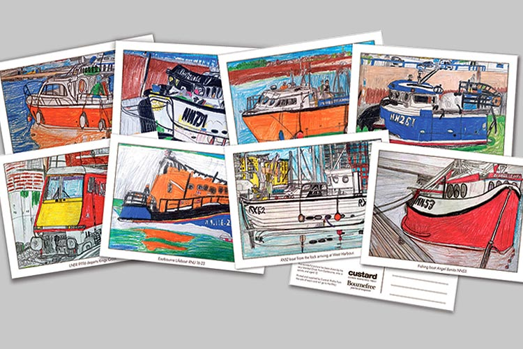 Thanks for buying Oliver's amazing postcards and supporting Eastbourne RNLI on Eastbourne Bournefree website
