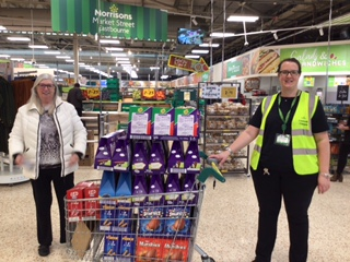 Ladies donate Easter eggs to families in need on Eastbourne Bournefree website