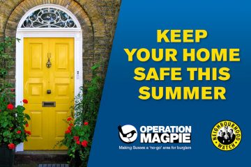 Residents urged to keep their homes secure and safe this summer on Eastbourne Bournefree website