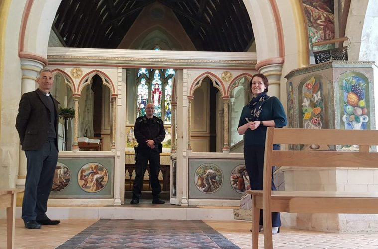 Berwick Church receives £500 boost from Sussex Police on Eastbourne Bournefree website