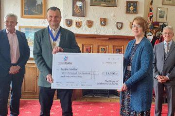 Former Eastbourne Mayor donates over £15,500 to People Matter despite Covid block on fundraising events on Eastbourne Bournefree website