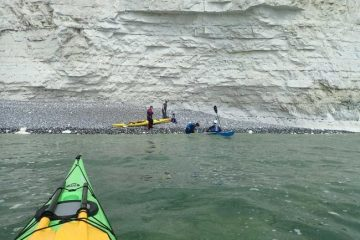 Kayakers rescue father and son trapped by incoming tide at Seven Sisters on Eastbourne Bournefree website