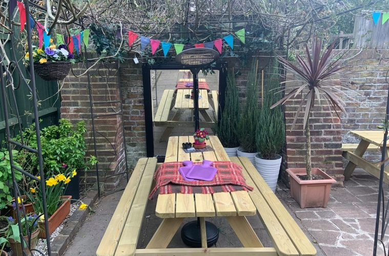 Printers Playhouse: Outside venue in Eastbourne offers 'hot water bottles, blankets, umbrellas and heaters' for customers on Eastbourne Bournefree website