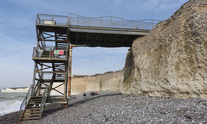 The steps at Birling Gap are now open agai on Eastbourne Bournefree website