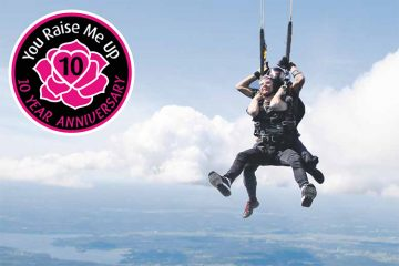 You Raise Me Up – skydiving towards our target on Eastbourne Bournefree website