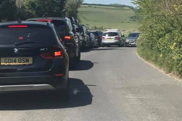 Look at this! Absolute chaos around Friston Forest this afternoon on Eastbourne Bournefree website