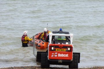 Eastbourne RNLI called out today to 'people cut off by incoming tide' on Eastbourne Bournefree website
