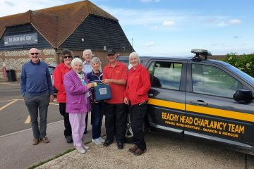 A new car and defib for Beachy Head Chaplaincy Team on Eastbourne Bournefree website