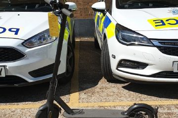 E-scooter seized in Hailsham over the Bank Holiday weekend on Eastbourne Bournefree website