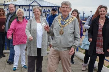 Eastbourne Mayor puts on walking shoes for first charity event on Eastbourne Bournefree website