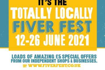 Fiver Fest Returns to Eastbourne shops today! on Eastbourne Bournefree website