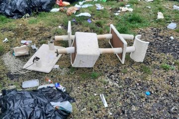 Flytippers dumped black bags filled with waste and other unwanted items at Eastbourne United Football Club car park on Eastbourne Bournefree website