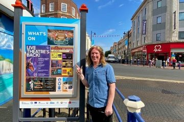 New What's on boards in Terminus Road look fab on Eastbourne Bournefree website