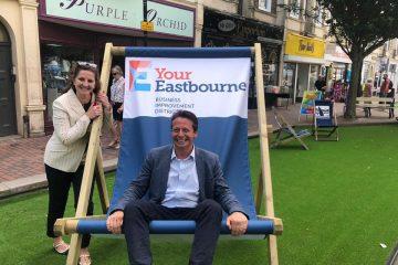 'pocket park' in Victoria Place on Eastbourne Bournefree website