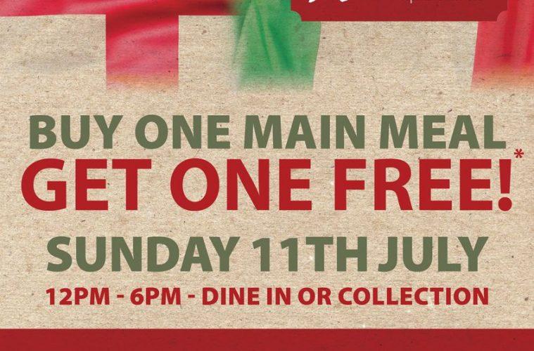 2 meals for 1 on Sunday to mark Euro 2020 final at Eastbourne restaurant on Eastbourne Bournefree website