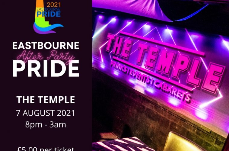 Eastbourne PRIDE announces exciting After Party at The Temple Bar on Eastbourne Bournefree website