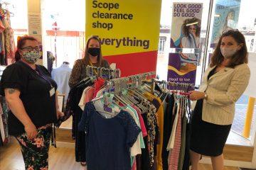 Eastbourne MP Caroline Ansell vists Scope Charity Shop in Seaside Road on Eastbourne Bournefree website