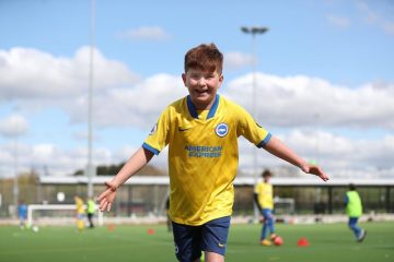 Exciting summer soccer schools in Eastbourne with Brighton and Hove Albion on Eastbourne Bournefree website