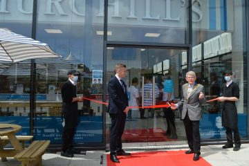 Mayor of Eastbourne opens new fish and chip shop in Langney Shopping Centre on Eastbourne Bournefree website