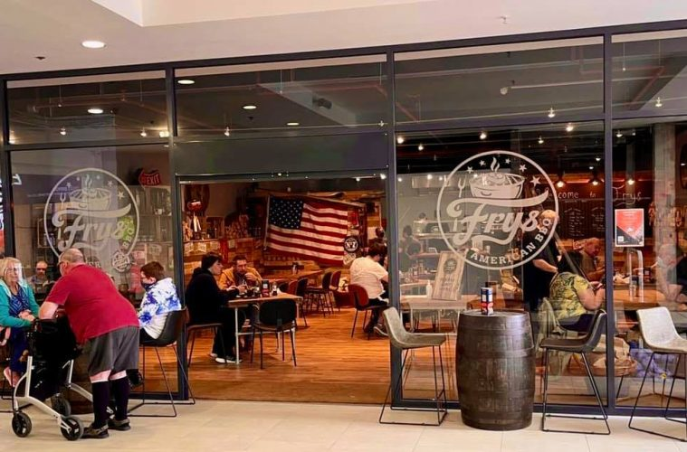 New row between Frys American BBQ and Langney Shopping Centre on Eastbourne Bournefree website