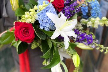 Eastbourne flower shop goes red, white and blue crazy for Euro 2020 final........... on Eastbourne Bournefree website