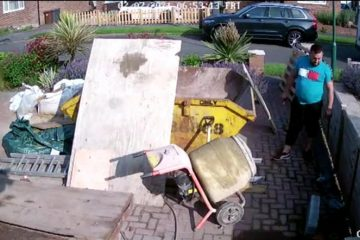 Thief caught on camera stealing lead in Willingdon on Eastbourne Bournefree website