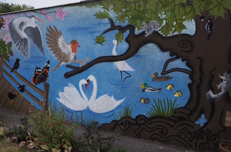Tanya-Lisa's amazing mural will be on public display in Selmeston Road on July 24 on Eastbourne Bournefree website
