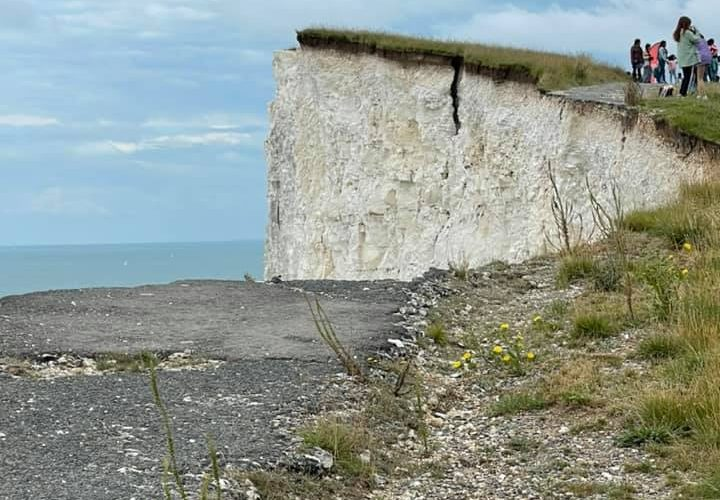 Eastbourne Coastguard: Stay away from cliff edge east of Belle Tout Lighthouse on Eastbourne Bournefree website