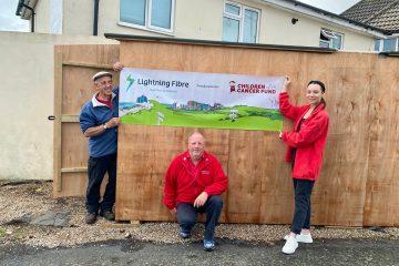 Lightning Fibre supports Children With Cancer Fund on Eastbourne Bournefree website