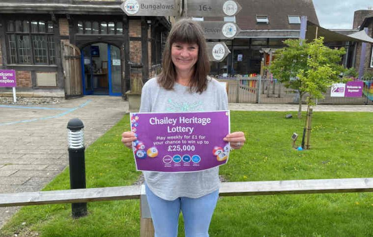 Helen says 'sign up for charity lottery' after winning £1000 on Eastbourne Bournefree website, Chailey Heritage Foundation