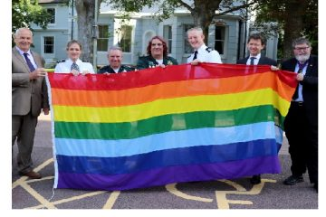 Rainbow flag flies at County Hall on Eastbourne Bournefree website