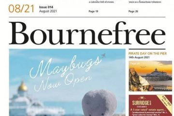 Where you can pick up your August Bournefree on Eastbourne Bournefree website
