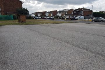 Sad picture of empty Beatty Road shops car park on Eastbourne Bournefree website