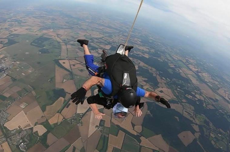 Chamber CEO Christina Ewbank's skydive for You Raise Me Up on Eastbourne Bournefree website