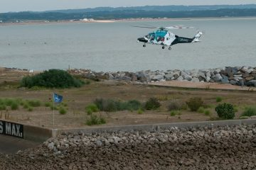 Police, ambulance and helicopter deal with emergency at Sovereign Harbour today on Eastbourne Bournefree website