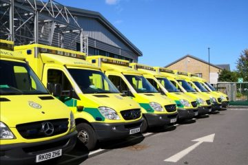 Woman claims ambulance car 'drove into our car' then drove off on Eastbourne Bournefree website