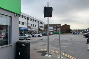 Parking signs on Beatty Road car park 'covered' on Eastbourne Bournefree website