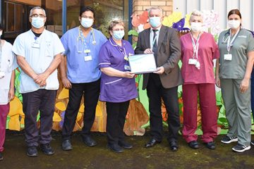 Eastbourne DGH Paediatric Team wins 'Hero of the Month' award on Eastbourne Bourmefree website