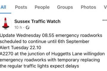 Traffic chaos/Polegate/Willingdon on Eastbourne Bournefree website