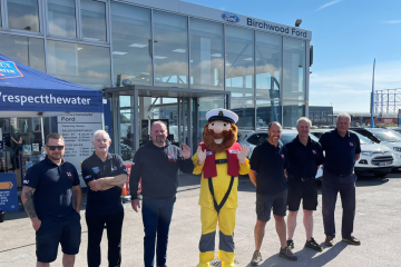 Birchwood Ford shine through with RNLI fundraising on Eastbourne Bournefree website