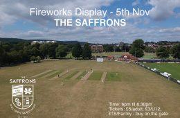 IT'S FIREWORKS AT THE SAFFRONS on Eastbourne Bournefree website