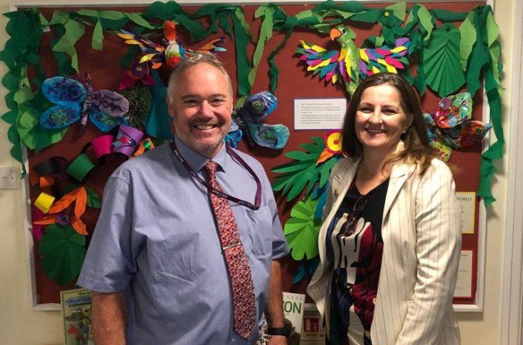 Eastbourne MP visits Ocklynge School on Eastbourne Bournefree website