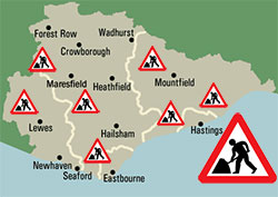 Plan to reduce time roadworks take in East Sussex on Eastbourne |Bournefree website